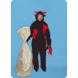 Kostým ČERT DĚTSKÝ - kobinéza s kapucí