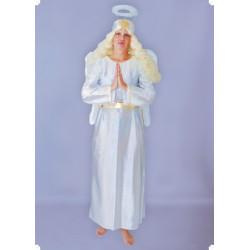 Kostým ANDĚLSKÉ ŠATY - šaty, pásek- náhradní stříbrný materiál!!