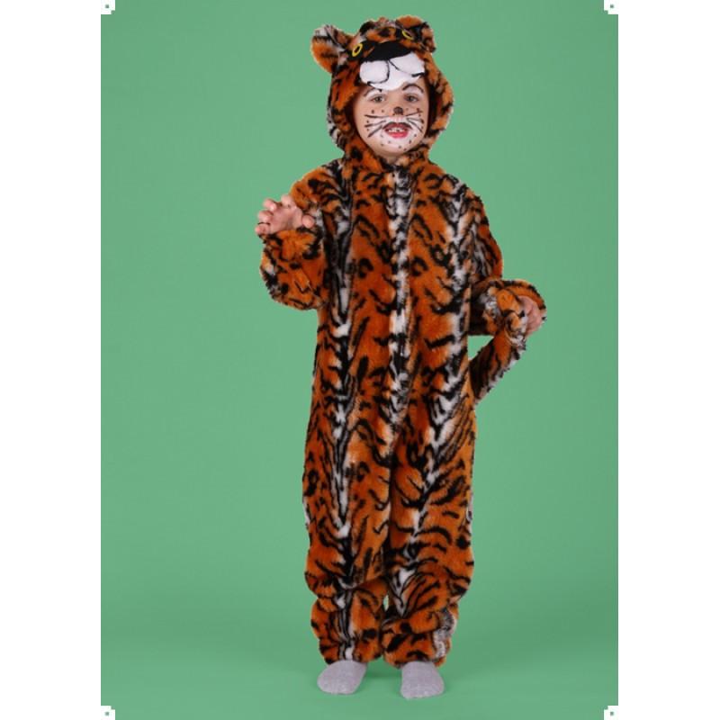 Karnevalový kostým TYGR - kombinéza s kapucí