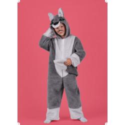 Karnevalový kostým VLK - kombinéza s kapucí