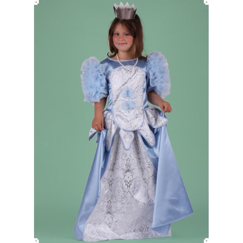 Karnevalový kostým PRINCEZNA MODRÁ LUXUS - šaty
