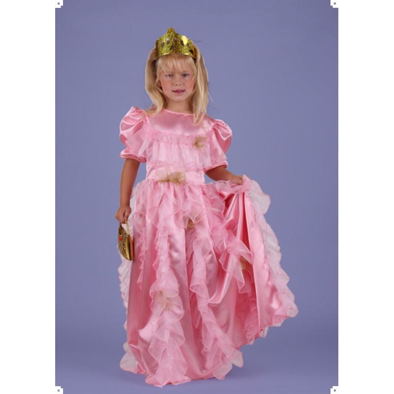 Karnevalový kostým PRINCEZNA RŮŽOVÁ LUXUS - šaty