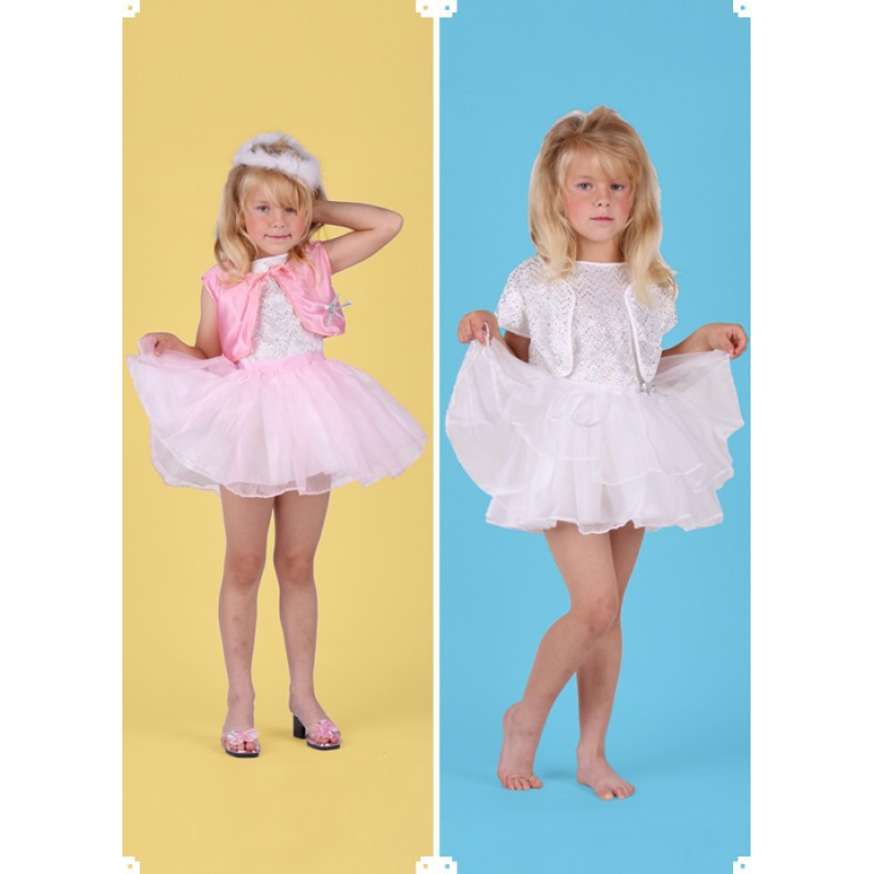 Karnevalový kostým BALERÍNA SOUPRAVA - šaty, 2xsukně, 2x bolerko