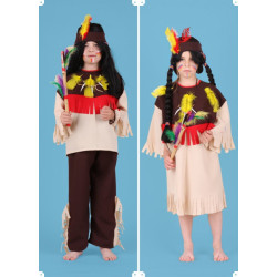 Karnevalový kostým INDIÁN - kalhoty,horní díl,čelenka