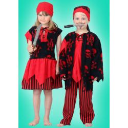 Karnevalový kostým PIRÁTKA - šaty, šátek