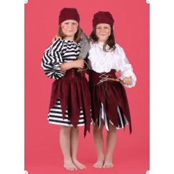 Karnevalový kostým PIRÁTKA II -s proužkovanou halenou - sukně,horní díl,čepice
