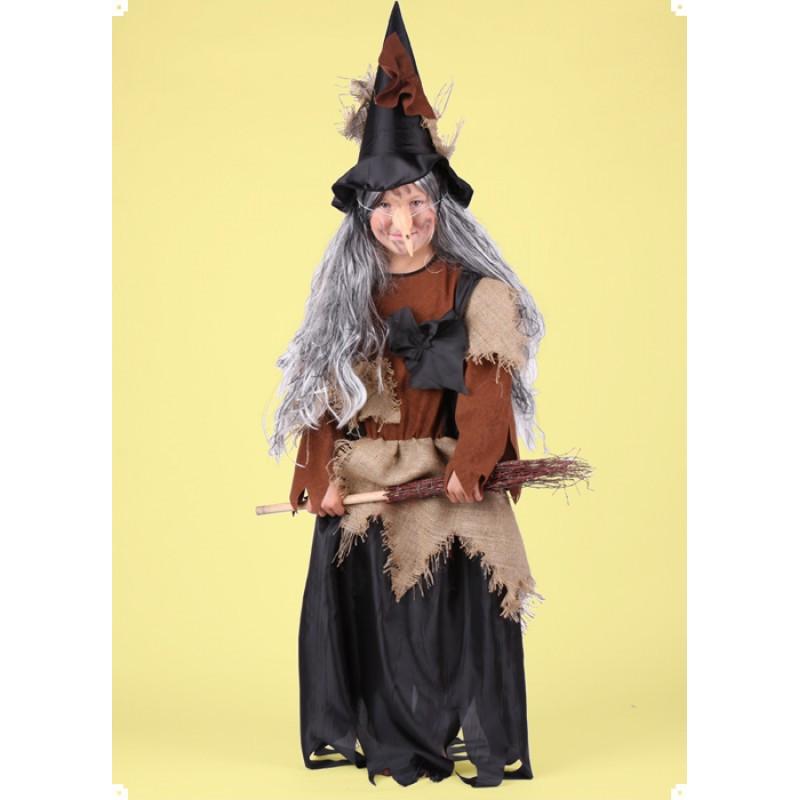 Karnevalový kostým ČARODEJNICE III - šaty,klobouk
