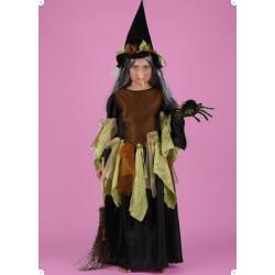 Karnevalový kostým ČARODEJNICE IV - šaty, klobouk