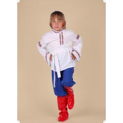Karnevalový kostým RUSKÝ CHLAPEC - kalhoty,horní díl,pásek