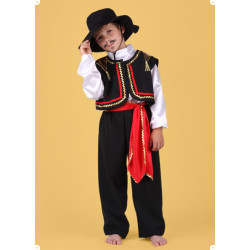 Karnevalový kostým TOREÁDOR - kalhoty,horní díl,vesta,klobouk,pásek