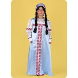 Karnevalový kostým RUSKÉ DĚVČE - šaty,čelenka
