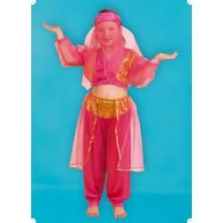 Karnevalový kostým ARABSKÁ TANEČNICE - kalhoty, horní díl, závoj