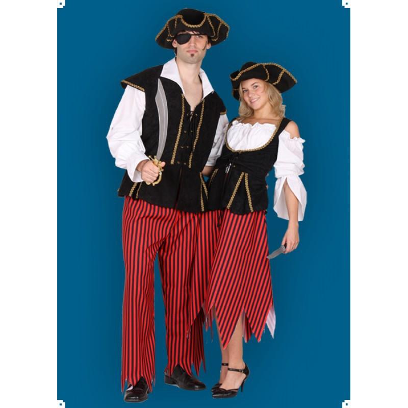 Karnevalový kostým PIRÁT II - Kalhoty,horní díl