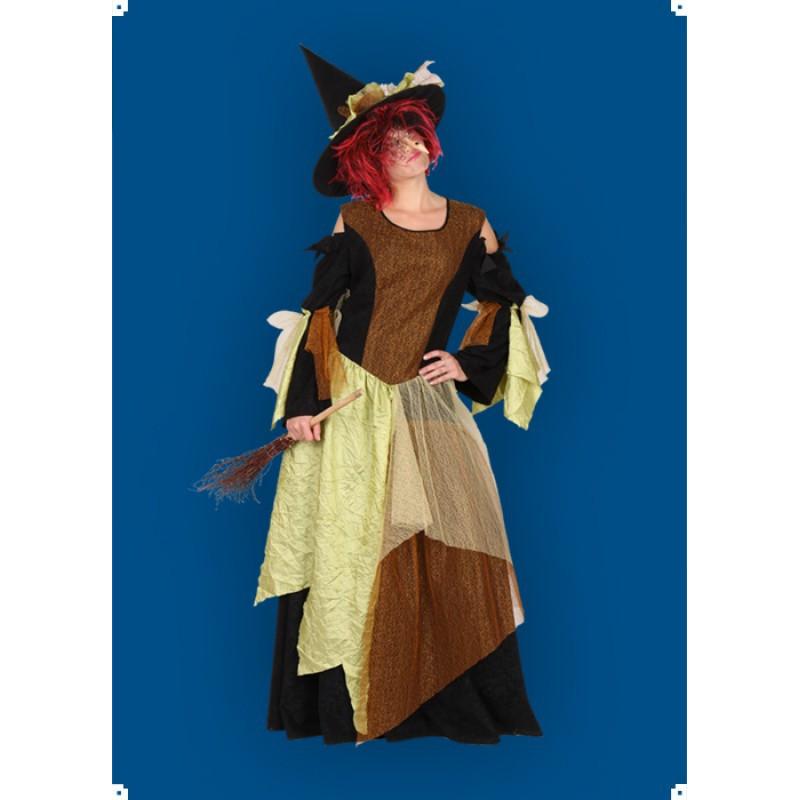 Karnevalový kostým Čarodějnice IV - šaty,klobouk