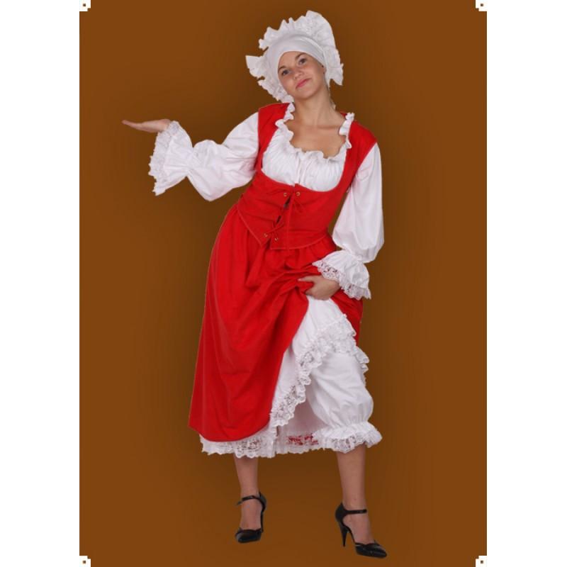 Karnevalový kostým Kroj - 2x spodnička, sukně, halena, vesta, čepec