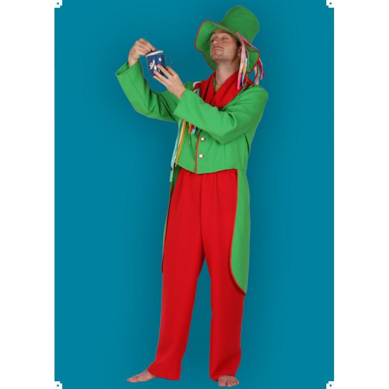 Karnevalový kostým Vodník - kalhoty,frak,klobouk,šátek