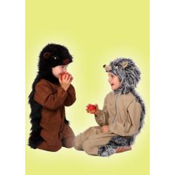 Karnevalový kostým JEŽEK 1 - tmavý overal s kapucí