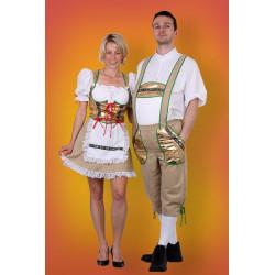 Karnevalový kostým Tyrolák - kalhoty, košile