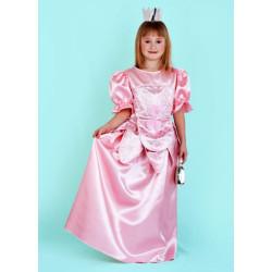 Karnevalový kostým PRINCEZNA RŮŽOVÁ - šaty