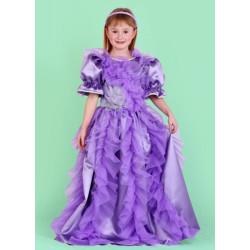 Karnevalový kostým PRINCEZNA FIALOVÁ - šaty
