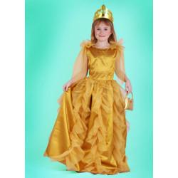 Karnevalový kostým PRINCEZNA ZLATÁ - šaty