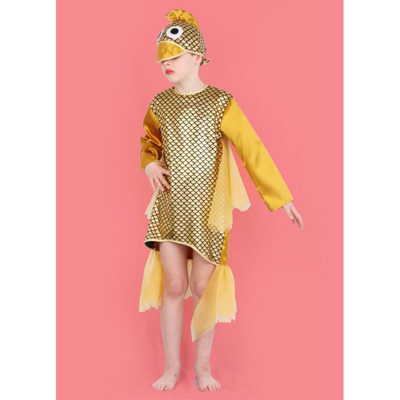 Karnevalový kostým RYBA - šaty, čepice