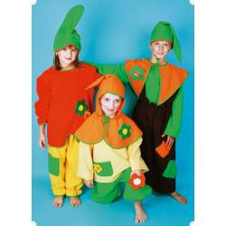Karnevalový kostým TRPASLÍCI-RŮZNÉ BARVY - kalhoty, horní díl, čepice