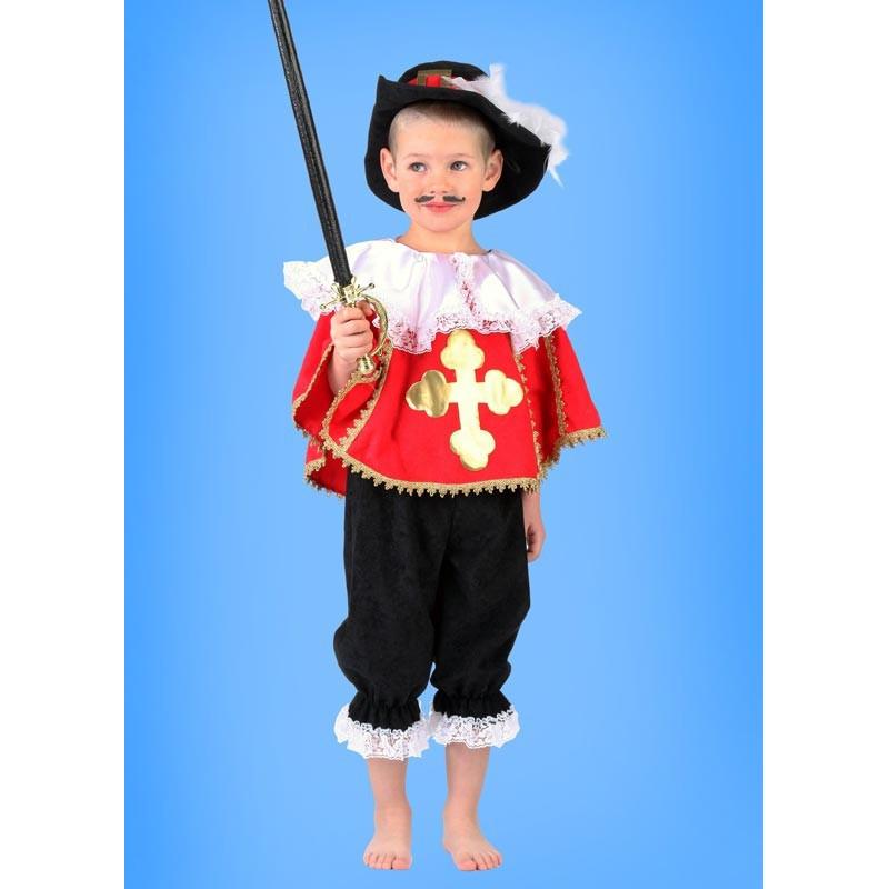 Karnevalový kostým Mušketýr s pelerínou - kalhoty,horní díl,klobouk