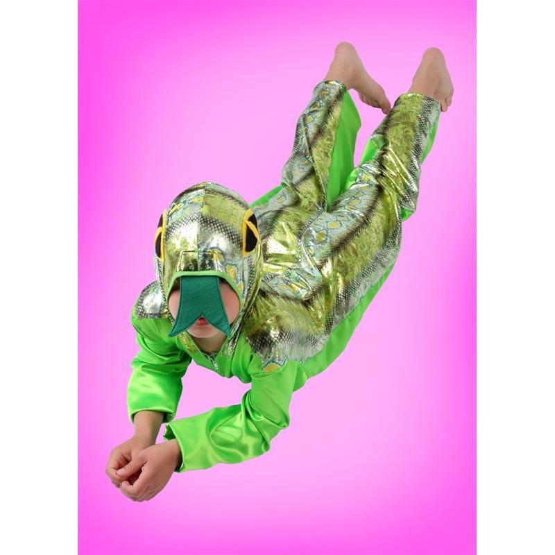 Karnevalový kostým Had - kombinéza s kapucí