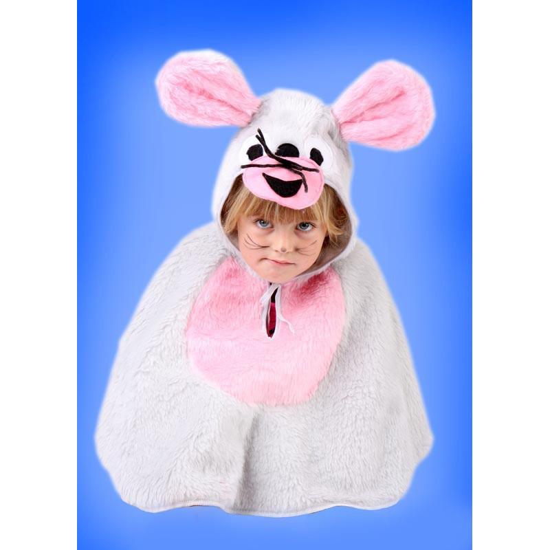 Karnevalový kostým Myška - pelerína s kapucí