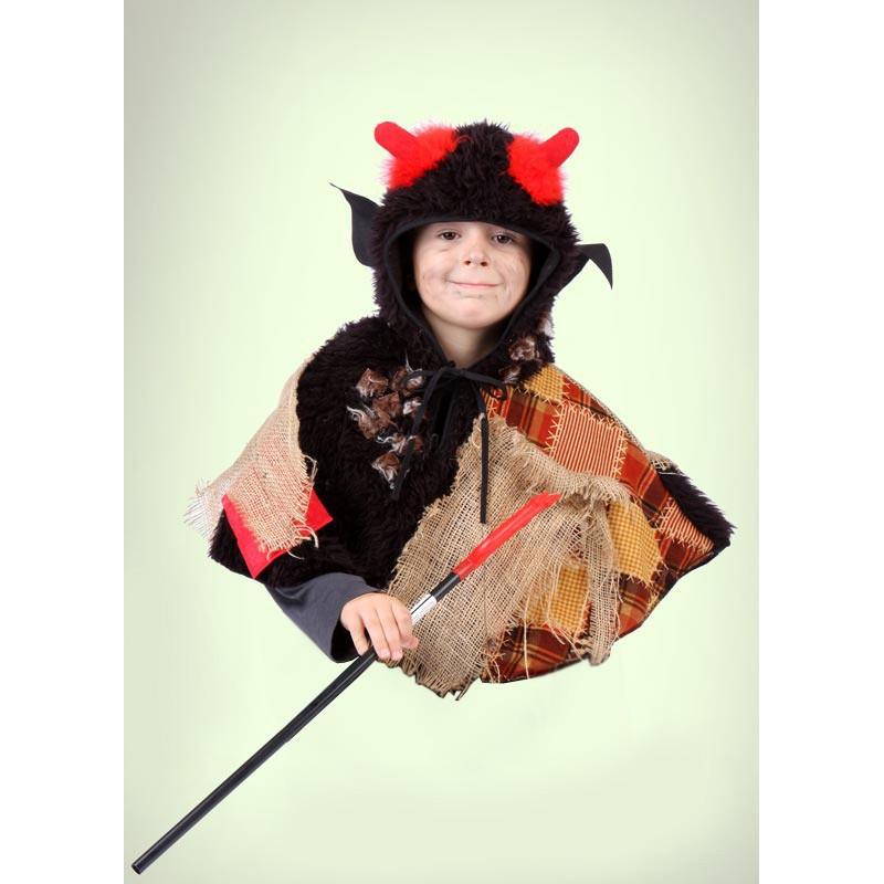 Kostým Čertík - pelerína s kapucí