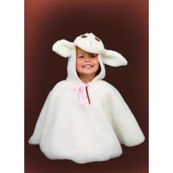 Karnevalový kostým Ovečka - pelerína s kapucí