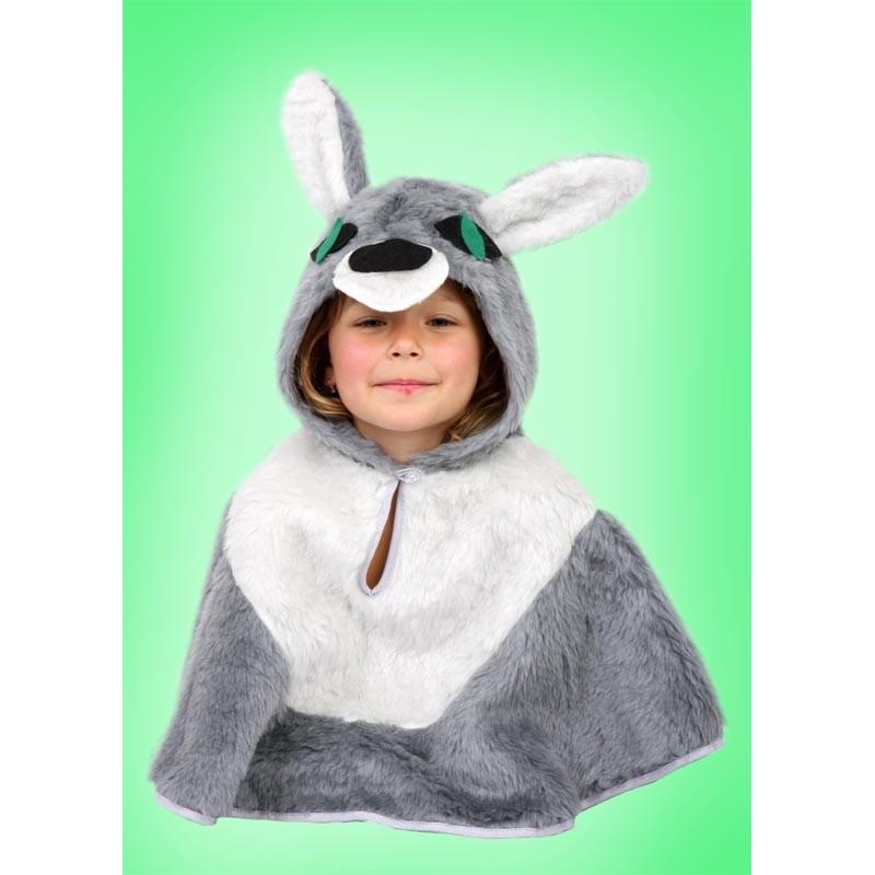 Karnevalový kostým VLK - pelerína s kapucí