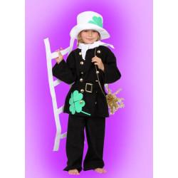 Karnevalový kostým Kominík - kalhoty, horní díl s páskem,klobouk,šátek