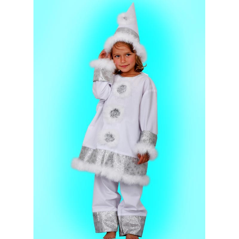 Karnevalový kostým Sněhulák - kalhoty,horní díl, čepice