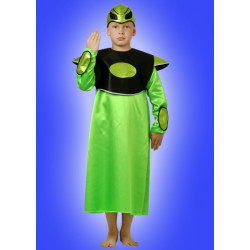 Karnevalový kostým ALIEN - šaty, čepice
