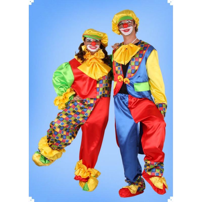 Karnevalový kostým Šašek - kombinéza overal, čepice