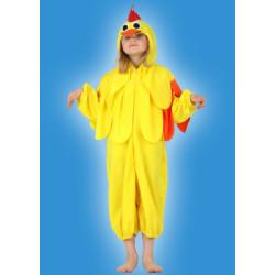 Karnevalový kostým KUŘÁTKO - kombinéza s kapucí