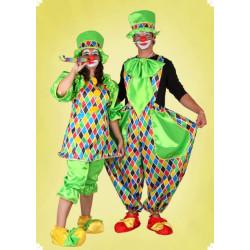 Karnevalový kostým Klaun - horní díl, kalhoty, čepice