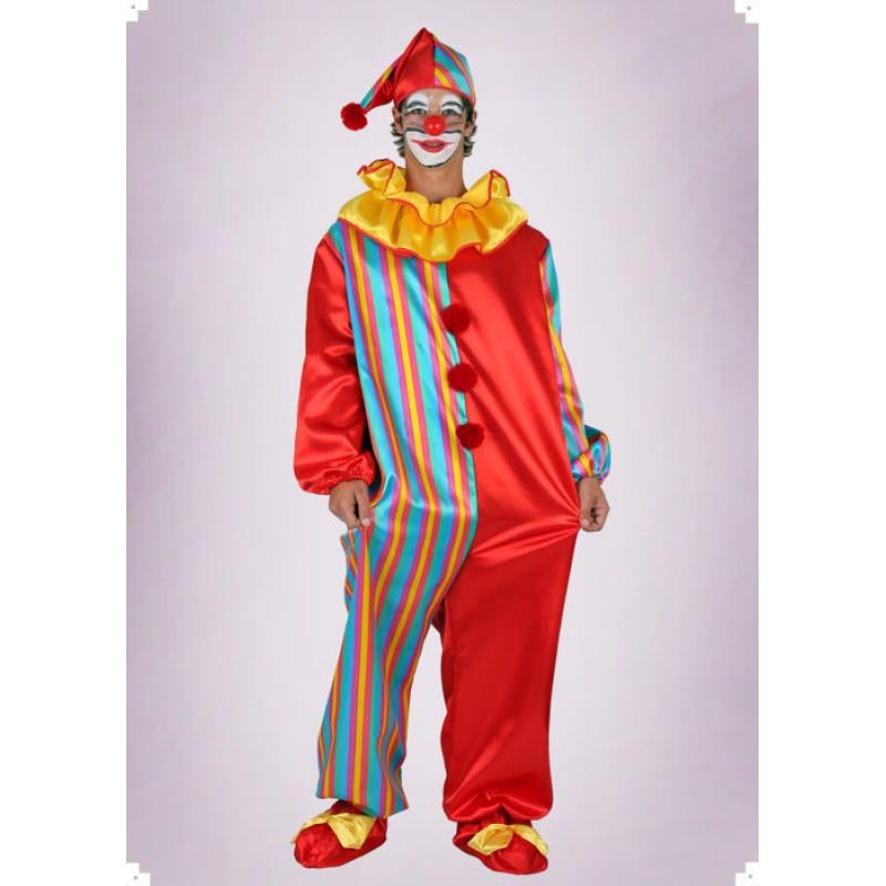 Karnevalový kostým KLAUN KOMBINÉZA - overal, čepice  Nyní náhradní materiál- barevné kosočtverce jako u kalun č.8813 !!