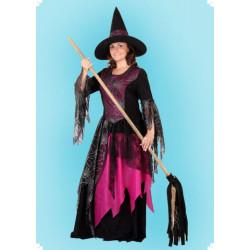 Karnevalový kostým Čarodějnice - pavouk šaty, klobouk