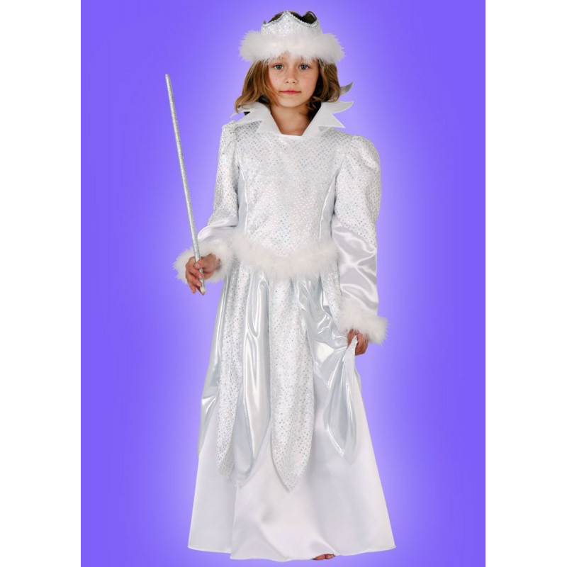 Karnevalový kostým LEDOVÁ KRÁLOVNA - šaty, čelenka