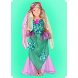 Karnevalový kostým Mořská panna - šaty, čelenka