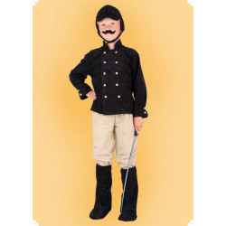 Karnevalový kostým Jezdec - horní díl, kalhoty, čepice, návleky