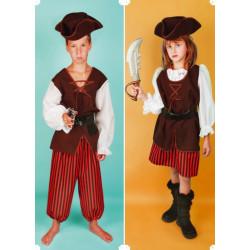 Karnevalový kostým PIRÁT Z KARIBIKU - kalhoty, horní díl, klobouk