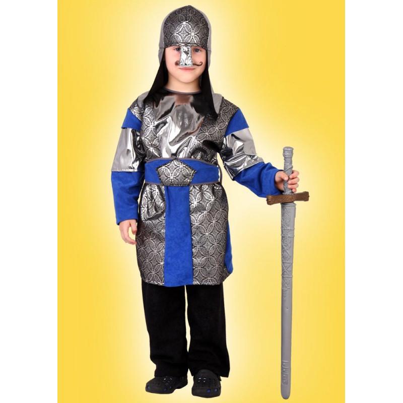 Karnevalový kostým RYTÍŘ - horní díl, helma, pásek