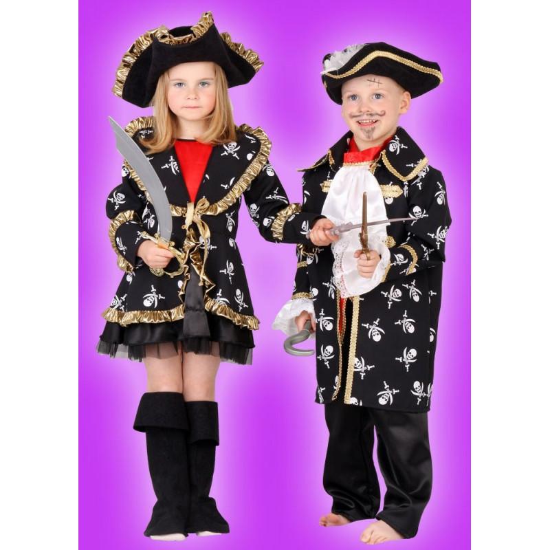 Karnevalový kostým PIRÁTKA LUXUS - šaty, sako, klobouk