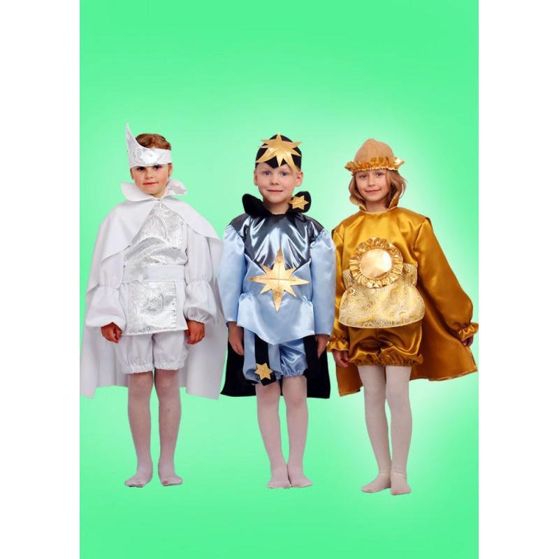 Karnevalový kostým MĚSÍC - kalhoty, horní díl, plášť, pásek čelenka