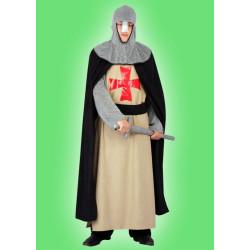 Karnevalový kostým TEMPLÁŘ - tunika, plášť, kapuce