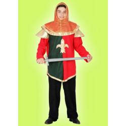 Karnevalový kostým RYTÍŘ ZELENOČERVENÝ - horní díl, kukla